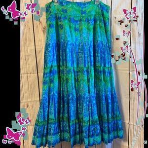 Jones New York Skirt Plus Size 16 Green Blue ZZ 20